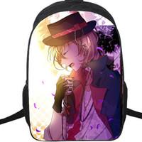 Накахара Чуя рюкзак Bungo бродячие собаки плохой мальчик рюкзак мультфильм школьный аниме рюкзак Спорт школьный мешок Открытый день пакет.