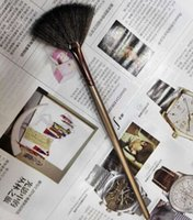 Kozmetik fırça-makyaj fırça-tek kahverengi bronz fan fırçası 120 adet / grup