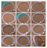 Ordem misturada de alta qualidade 925 esterlina banhado a corrente de prata pulseira legal personalidade da moda dos homens de Jóias preço de Fábrica frete grátis 12 pc