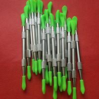 Les outils de dabbers de cire de prix bas les outils de dabber de titane cire l'outil d'outil de coup de silicone 106mm pour le vaporisateur de dab La marque d'OEM acceptent le logo adapté aux besoins du client