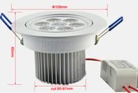 LED 7W teto para baixo lâmpada de iluminação 7x1W Recessed Downlights Dimmable 110V 220V AC não regulável 85-265V alta potência 7 Watt brilhantes luzes do ponto