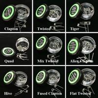 Alien Sigortalı Clapton Bobin Düz Mix Twisted Bobinleri Hive Quad Tiger Isıtma Telleri 9 Farklı Türler Premade Wrap Direnci Tel E Çiğ için