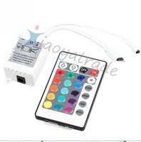 좋은 품질 LED IR 컨트롤러 12V 6A 24 키 IR 원격 컨트롤러 3528 5050 RGB LED 스트립 조명 번호 추적