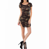 Vestidos Summer Sexy Dress Dress Camouflage Printed Party Maniche corte Camicie lunghe Mini Abiti Plus Size