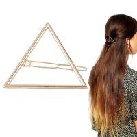 Mulheres Meninas Moda Pino de Cabelo Bobby Pins Oco Out Triângulo Grampo de Cabelo Hairpin Festa de Casamento Acessórios Para o Cabelo Por Atacado 12 Pcs