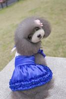 GROSSES SOLDES!! Vêtements pour animaux de compagnie femme robes un PCs beaucoup de vêtements de chien 3 couleurs pour chiots fille chien robes de soutien en gros