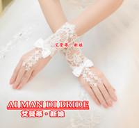 Hermoso guante de boda de encaje sin dedos hermoso Guante de boda Guante de boda de guante de boda Accesorios de la boda Nueva llegada 2021