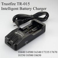 Originele Trust Fire TR-015 Digitale Dual Charger Trustfire Batterij Lading AU US EU UK Plug voor 18350 18650 PK TR-J18 TR-001 TR-006 DHL