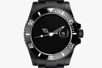 모든 흑인 남성 스테인레스 스틸 시계, 패션 세라믹 베젤 사파이어 유리 자동 남성 시계 남성 손목은 068 시계
