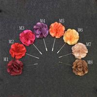 Fleur De Luxe Broche Épinglettes À La Main Boutonnière Bâton Avec Mode Satin Fleurs Pour Monsieur Costume Porter Des Hommes Accessoires