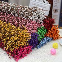 Sıcak Satış 300 adet DIY Düğün Garland Yapay Çiçek Kafası Yüzük PIP Berry Çiçek Kök DIY Çelenk Çiçek Boncuk AcCeorry