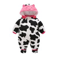 59- 80cm Cute Cow Baby Rompers Winter Thick Warm Baby boy Clo...