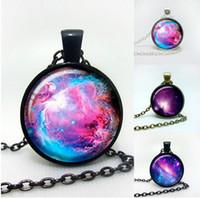 Оптовая продажа-Галактика ожерелье Туманность ювелирные изделия Orion Туманность кулон Туманность для мужчин, искусство кулон стекло кабошон ожерелье, туманность галактика