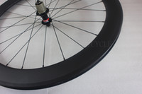 60 ملليمتر الفاصلة الخلفية الطريق دراجة عجلة 24 h 23 ملليمتر عرض عمود سوبر ضوء ايرو المتحدث novatec F482SB محور البازلت الفرامل المسار الكربون دراجة عجلة