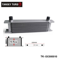 Tansky - 영국형 10 열 엔진 오일 쿨러 / AN8 로고가없는 유니버셜에 대한 주식 TK-OC000010