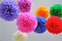 100 pcs De Mariage Décoration Mariage Fleurs Artificielles Fournitures Papier Tissu Pom Poms Parti Festival Papier Fleurs 5 Tailles Mélangées
