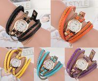 2015 luxe montre-bracelet de mode pour les femmes Lady Wrap poignet en cuir montres à cadran rond de charme Infinity Bracelets montres