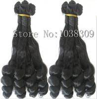"""Top 8A (4 pièces / lot) Pérou genèse vierge cheveux aunty funmi cheveux naturel noir romance curl longueur 12 """"à 20"""" funmi cheveux"""