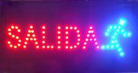 Испанские слова индивидуальные светодиодные САЛИДА неоновые вывески выделяющийся лозунги неоновые огни красное слово полу-открытый бесплатная доставка