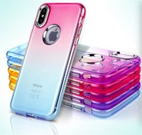 Electroplate Gradient Cell Phone Case Soft TPU Cases for iPh...
