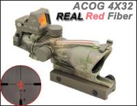 جديد Trijicon الفريق التعاوني 4X32 مصدر الألياف الحقيقية الأحمر مضيئة (الألياف الحمراء الحقيقية) نطاق البندقية التكتيكية ث / RMR مايكرو ريد دوت البصر A-TACS
