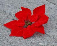 """Red 100P Dia.20cm / 7.87 """"Sztuczna symulacja jedwabna Poinsettia Boże Narodzenie kwiaty dekoracyjne kwiaty"""