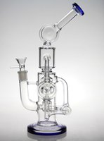 hitman - bongs Cyclone Helix pipe ad acqua Un intricato doppio Recycler in vetro bong helix perc Mothersh bong oil rig percolatore rig sofig
