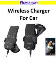 Bestsin Phone Holder Wireless Car Charger For Samsung S6 S7 ...
