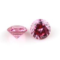 Bonne qualité 3A ronde européenne machine coupée 2.4-3,75 mm de couleur rose synthétique en meuble de zircone cubique en vrac de pierres précieuses pour bijoux Fabrication de 1000pcs / lot
