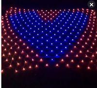 Batendo o coração em forma de coração rede Lanterna pavio lâmpada luzes LED criativo suprimentos de casamento festa decorativa