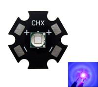 Epileds 8W 5050 Пурпуровое UV 395-400nm вело свет 3.4-3.8 V 2-2 Обломока.6 доска PCB 16mm / 20MM черная / белая