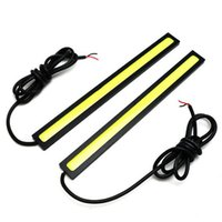 Wholesale-High Quality 2X 17cm LED COB 84 Chip Pure White Car Auto Driving DRL Daytime Running Lights Lamp Waterproof Bar Strip DC12V