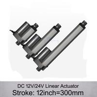 Бесплатная Доставка! Привод DC 12V/24V 12inch/300mm электрический линейный , 1000n/100kgs нагружает приводы скорости 10mm / s линейные без кронштейнов