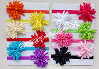 50pcs Girl Boutique Solid Korker curly Ribbon Hair clips bow...