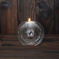 Прозрачные подсвечники свадьба бар партии домашнего декора классический хрустальное стекло подсвечник творческий круговой подсвечник 3 9md3 С Р