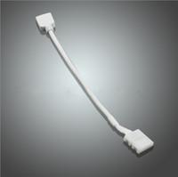 LED RGB 스트립 조명 솔더없는 커넥터 4pin RGB 컨트롤러 연결기 스트립 조명 연장선의 연장 와이어 연결선