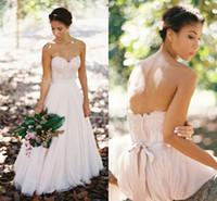 Romántico jardín de tul gasa rubor vestidos de novia vestidos de novia cariño apliques de encaje blusa espalda baja vestidos de novia sexy una línea