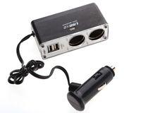 12V-24V 2 웨이 자동차 담배 라이터 멀티 소켓 트윈 USB 포트 핸드폰 충전기 어댑터 아이폰에 대 한 삼성 HTC 소니 ipad 고품질