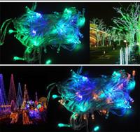 الاتحاد الأوروبي قابس 10M 100leds الصمام سلسلة ضوء عيد الميلاد بقيادة الاضواء في الهواء الطلق luminaria الديكور المصابيح حزب الديكور الجنية في الهواء الطلق للماء