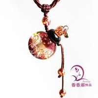 1pcs 25X28MM, Murano Glass Perfume Necklace Baroque (with cor...