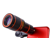 Universal 12x Optical Zoom Telescope Camera Lens Clip Mobiltelefon Teleskop för smart telefon i detaljhandeln 30pcs / parti