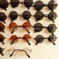 Gafas de sol al por mayor-redondas sombras Hippy Penny Vintage 60s John  Lennon Sunnies c392cccf14