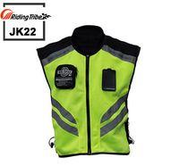Tribe Riding motocicleta moto moto racing chaqueta de advertencia reflectante de alta visibilidad, ropa de seguridad reflectante JK22