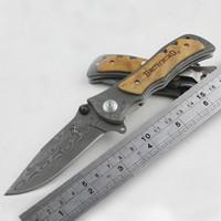Hot Sales Browning Folding Kniv 339 Rostfritt Stål Damaskus Tatuering Camping Knivficka Knivar KageKi Hantera taktisk kniv