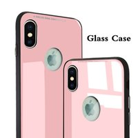 For Iphone X Toughened Glass Cellphone Case Silicone Soft Ed...