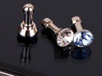 Venda quente diamante poeira plug para htc para samsung galaxy s6 para iphone 6 plus 5S 4S 5 6 plugue poeira 3.5mm fones de ouvido acessórios do telefone