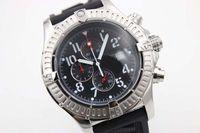 Heißer Verkauf Neue Silber Zifferblatt Schwarz Gummi Sea Wolf Chronograph Gürtel Herren Weiß Edelstahl Zeiger Uhr Männer Sport Armbanduhr Watchesver