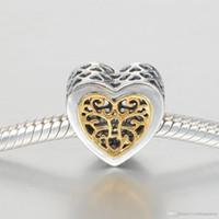 Árbol de la vida encanto colgante al por mayor auténtico s925 plateado plateado para pulsera de estilo y collar alelw618