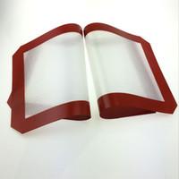 Tapis en silicone rouge anti-adhésifs en gros pour la cire 30 cm x 21 cm tapis de cuisson en silicone tapis de cuisson à l'huile tamponneront les herbes sèches