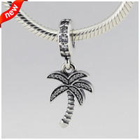Новый 100% стерлингового серебра 925 оригинальный бисер Palm Tree Шарм DIY ювелирные изделия для женщин подходит Пандора Европейский подвески браслет